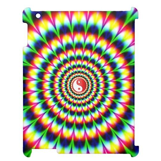 Extracto colorido Yin-Yang del círculo de la pluma