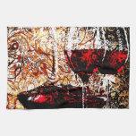 Extracto con el vino toalla