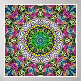 Extracto concéntrico de los colores póster