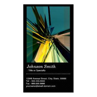 Extracto contemporáneo de la construcción con tarjetas de visita