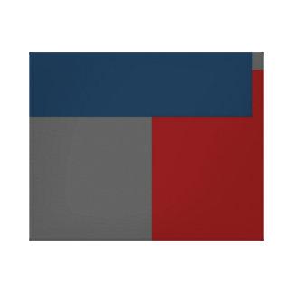 Extracto contemporáneo moderno impresión en lona estirada