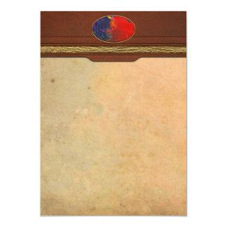 Extracto - creyón - Andromeda Invitación 12,7 X 17,8 Cm