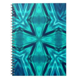 Extracto cruzado azul del trullo hermoso del spiral notebooks