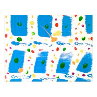 Extracto cuadrado azul tarjetas postales