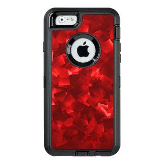 Extracto cubista moderno rojo de rubíes funda OtterBox defender para iPhone 6