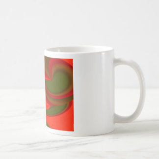 Extracto cubista rojo y verde taza clásica