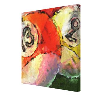 extracto de 13 y 9 bolas de billar impresión en lienzo