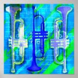 Extracto de 3 trompetas impresiones