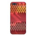 Extracto de acero rojo y amarillo descolorado de l iPhone 5 protectores