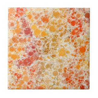 Extracto de Borgoña del amarillo anaranjado de Azulejo Cuadrado Pequeño
