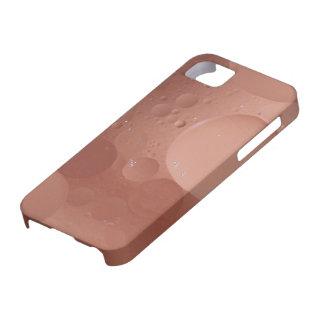 Extracto de color salmón contemporáneo de los círc iPhone 5 protector