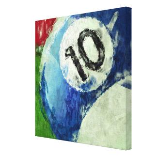 Extracto de diez billares de la bola impresión en lienzo