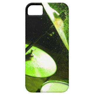 Extracto de Drumset que brilla intensamente verde Funda Para iPhone 5 Barely There