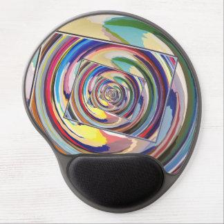 Extracto de giro de los colores alfombrillas de raton con gel