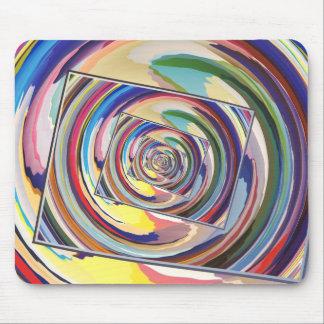 Extracto de giro de los colores tapetes de ratón