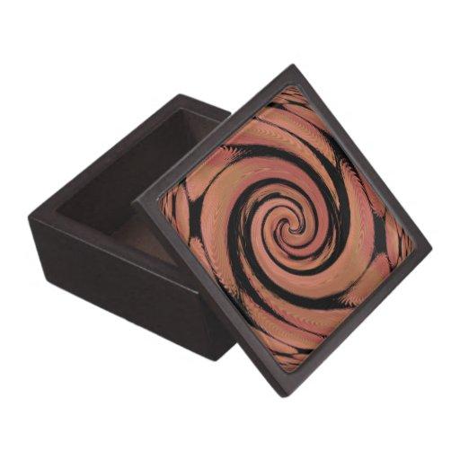 Extracto de giro del beige atractivo cajas de joyas de calidad