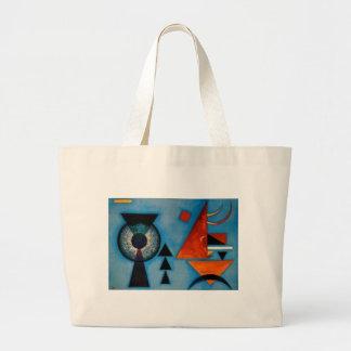 Extracto de Kandinsky suavemente difícilmente Bolsa De Tela Grande
