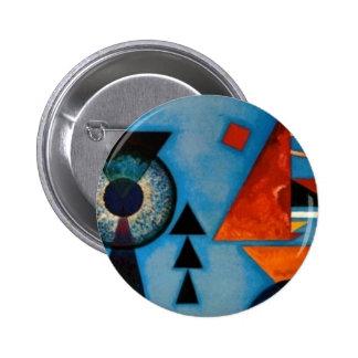 Extracto de Kandinsky suavemente difícilmente Pin Redondo 5 Cm
