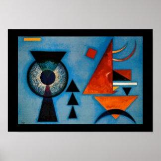 Extracto de Kandinsky suavemente difícilmente Póster