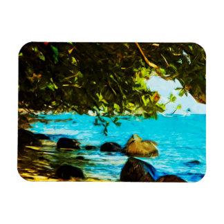 Extracto de Kauai Hawaii de la bahía de Hanalei Iman De Vinilo