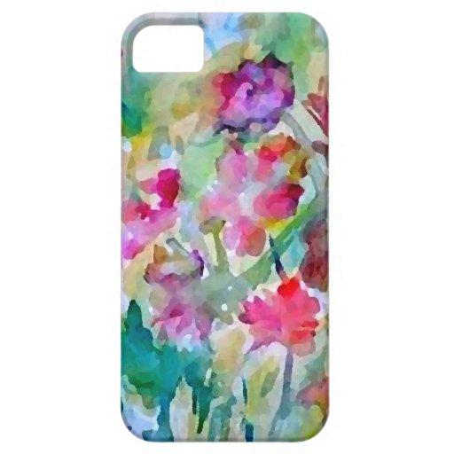 Extracto de la acuarela del jardín de flores de Cr iPhone 5 Case-Mate Protectores