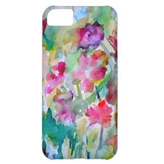 Extracto de la acuarela del jardín de flores de Cr Funda Para iPhone 5C