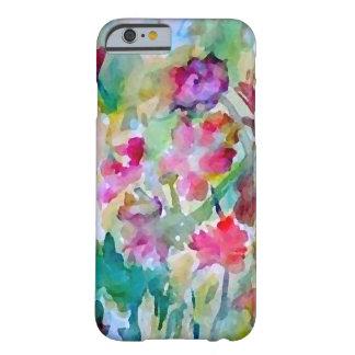 Extracto de la acuarela del jardín de flores de funda para iPhone 6 barely there
