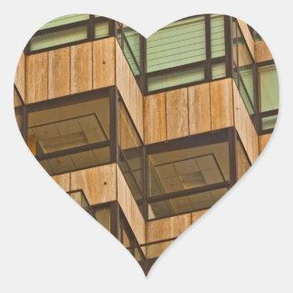 Extracto de la arquitectura pegatina en forma de corazón