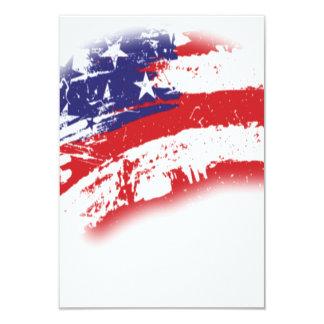 """Extracto de la bandera americana apenado invitación 3.5"""" x 5"""""""
