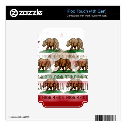 Extracto de la bandera de California Skins Para iPod Touch 4G
