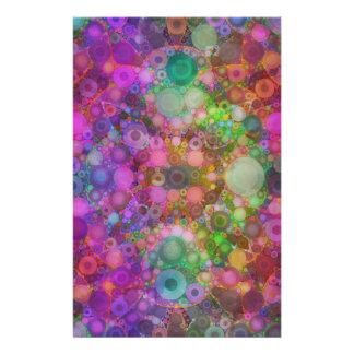 Extracto de la burbuja del arco iris papelería personalizada