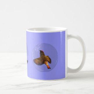 Extracto de la burbuja del pájaro cantante tazas de café