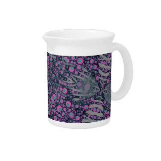 Extracto de la cebra de la lavanda jarras para bebida