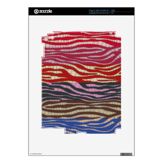 Extracto de la cebra del arco iris calcomanía para el iPad 2