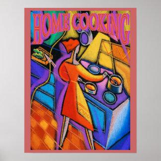 Extracto de la cocina casera póster