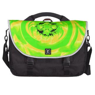 Extracto de la dalia verde amarillo bolsas de ordenador