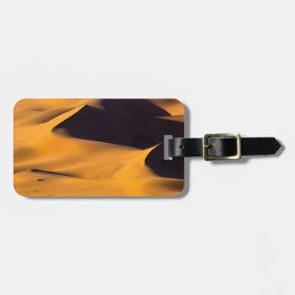 Extracto de la duna de arena etiquetas de equipaje