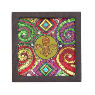 Extracto de la flor de lis del vitral cajas de regalo de calidad