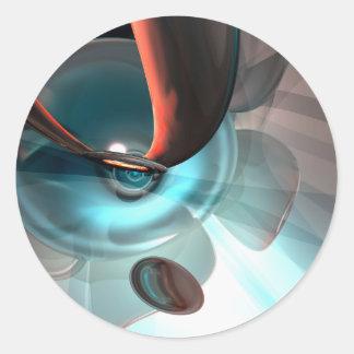 Extracto de la interceptación pegatina redonda