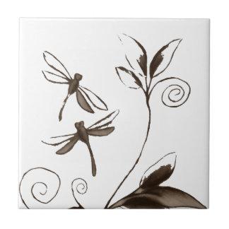 Extracto de la libélula azulejo cuadrado pequeño