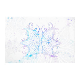 Extracto de la mariposa de la lona impresiones en lienzo estiradas