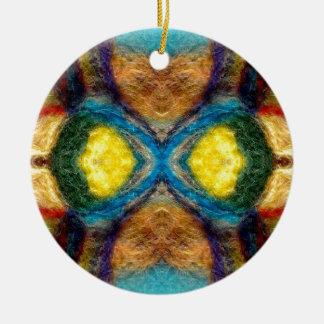 Extracto de la materia textil adorno navideño redondo de cerámica