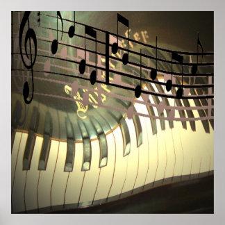 Extracto de la música del piano impresiones