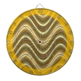 extracto de la onda del oro amarillo tablero dardos