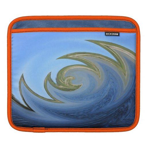 Extracto de la onda del río fundas para iPads