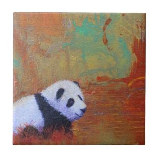 Extracto de la panda azulejo cuadrado pequeño