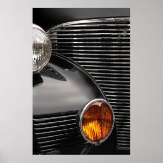 extracto de la parrilla del coche antiguo impresiones