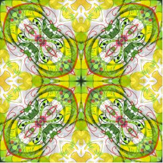 Extracto de la primavera en verde y amarillo escultura fotográfica