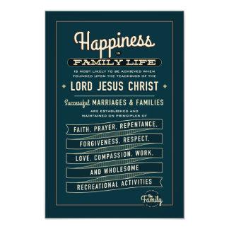 Extracto de la proclamación de la familia de LDS. Fotografía