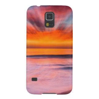 Extracto de la puesta del sol de la playa de funda galaxy s5